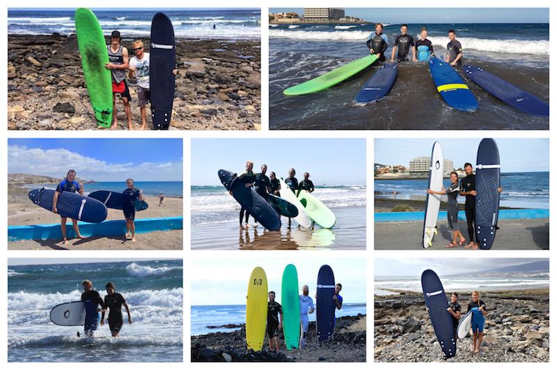 Surfove kurzy na Tenerife